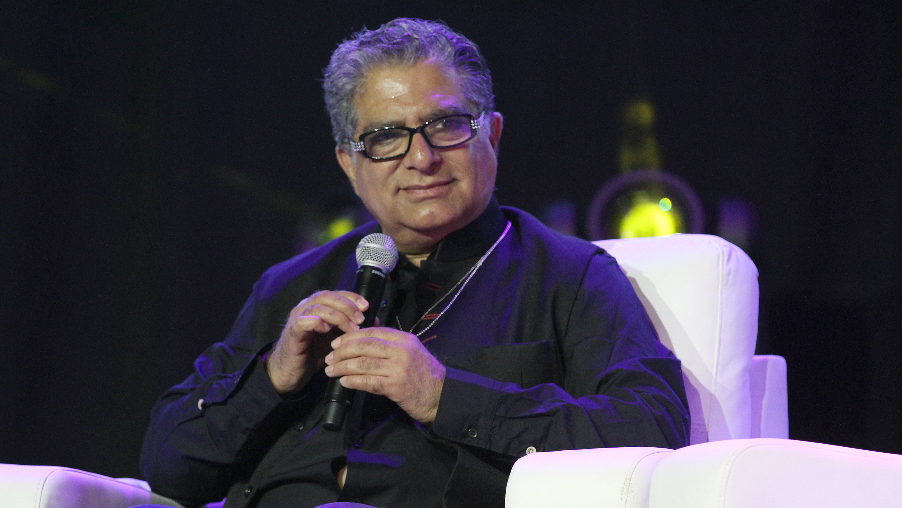 Guru Deepak Chopra on stage